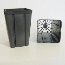Vaso quadrato alto QH3 9x9x13 cm